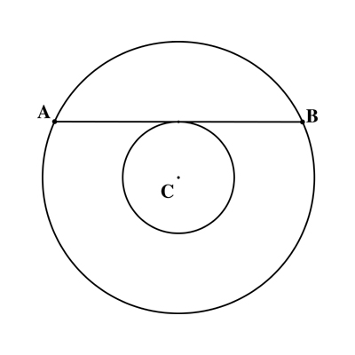 Solved A Chord To The Larger Circle Is Tangent To The Inn